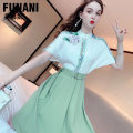 Fashion suit Summer 2021 S M L XL Green (20 days in advance) 18-25 years old Phoenicia F2120212 Polyester fiber 97.5% polyurethane elastic fiber (spandex) 2.5% Pure e-commerce (online only)