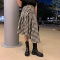 skirt Summer 2021 S,M,L Check Mid length dress commute High waist Irregular lattice Type A 1LE2134 30% and below other 6du shop other Korean version