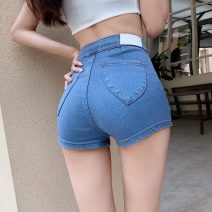 Jeans Summer 2021 Light blue, dark blue, black S,M,L shorts High waist routine 18-24 years old two point two two
