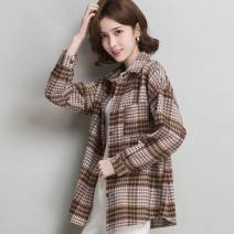 shirt Khaki, blue, white S,M,L,XL,2XL Spring 2021 other 81% (inclusive) - 90% (inclusive) Long sleeves Versatile other routine other Tagkita / she and others