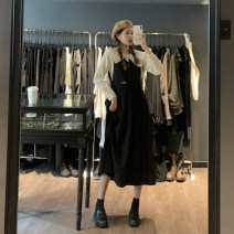 Dress Winter 2020 Black dress, apricot shirt Average size Miniskirt Two piece set Long sleeves commute Doll Collar middle-waisted Solid color other routine Others 18-24 years old Type A Korean version 51% (inclusive) - 70% (inclusive) other other