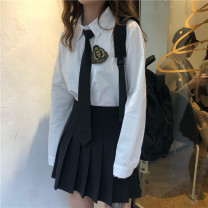 Other suits Spring 2020 White shirt (with tie badge), black shirt (with tie badge), grey skirt, black skirt S. M, average size Other / other