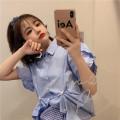 Fashion suit Summer 2020 Average size Blue shirt, plaid skirt 18-25 years old cotton