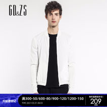 Jacket GD & ZS / gedu · zuozhi Fashion City white 165/S 170/M 175/L 180/XL 185/XXL thin Self cultivation Other leisure spring JBACI1244-1 Viscose (viscose) 44% polyester 42% polyamide (nylon) 14% Long sleeves Wear out Baseball collar Business Casual youth routine Zipper placket Rib hem fold Assembly