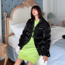 Dress Winter 2020 black S,M,L Middle-skirt singleton  Long sleeves street Crew neck Loose waist letter other routine Others 25-29 years old Type H 31% (inclusive) - 50% (inclusive) cotton Europe and America