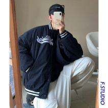 Jacket myfangshao Fashion City Navy Blue S,M,L,XL routine easy Other leisure spring Long sleeves Wear out Baseball collar Youthful vigor youth routine Single breasted 2021 Rib hem