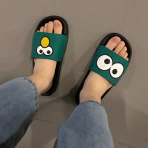 slipper Other / other EVA 36-37,38-39,40-41,42-43,44-45 Green, black summer Flip flop Sports & Leisure Flat heel EVA ventilation Hand painted Youth (18-40 years old)