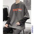 T-shirt Youth fashion White, gray, pink routine M,L,XL,2XL myfangshao Long sleeves Crew neck easy Other leisure spring youth Off shoulder sleeve 2021 Alphanumeric printing No iron treatment