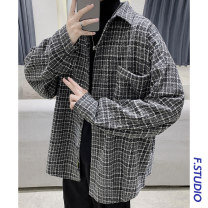 shirt Youth fashion myfangshao M,L,XL,2XL Khaki, dark gray, > Click to view size < (select color before) routine Pointed collar (regular) Long sleeves easy Other leisure autumn teenagers tide 2020 lattice No iron treatment Easy to wear