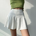 skirt Spring 2021 XS,S,M Short skirt street High waist Pleated skirt Solid color Type A 18-24 years old 31% (inclusive) - 50% (inclusive) other other fold Europe and America
