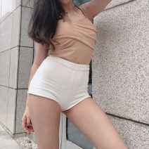 Casual pants White, gray, black, Navy, rust red S,M,L Summer of 2019 shorts High waist routine 18-24 years old acrylic fibres