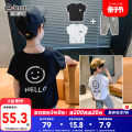 suit Little elephant ham White black 110cm 120cm 130cm 140cm 150cm 160cm male summer leisure time Sleeveless + pants 2 pieces Thin money There are models in the real shooting nothing cotton children Class B Cotton 100% Spring 2021