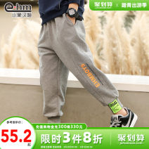 trousers Little elephant ham male 110cm 120cm 130cm 140cm 150cm 160cm Dark grey black spring and autumn trousers There are models in the real shooting Sports pants Leather belt middle-waisted Don't open the crotch Cotton 95% polyurethane elastic fiber (spandex) 5% Class B Spring 2021