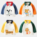 T-shirt Other / other male spring and autumn Long sleeves Lapel and pointed collar Korean version No model nothing cotton Cartoon animation Cotton 100% Class B Sweat absorption 2 years old, 3 years old, 4 years old, 5 years old, 6 years old, 7 years old, 8 years old Chinese Mainland