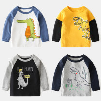 T-shirt Other / other 90cm,100cm,110cm,120cm,130cm,140cm male spring and autumn Long sleeves Crew neck Korean version No model nothing cotton Cartoon animation Cotton 100% Class A Sweat absorption 2, 3, 4, 5, 6, 7, 8, 9, 10 years old Chinese Mainland