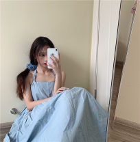 Dress Summer 2021 Picture color Average size Mid length dress singleton  commute Loose waist Big swing camisole 18-24 years old Korean version