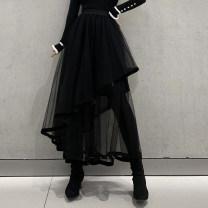 skirt Winter 2020 Average size black High waist Irregular b-0134 Other / other