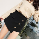skirt Spring 2021 S,M,L,XL,2XL black Short skirt commute High waist other Solid color Type A 31% (inclusive) - 50% (inclusive) other Other / other other 3D Korean version