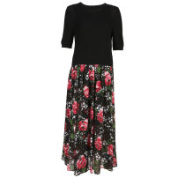 Dress Spring 2021 Decor S/7,M/9,L/11,XL/13 Mid length dress Two piece set Sleeveless Sweet Crew neck High waist Decor Socket other other Others 30-34 years old Type X Rattan of beauty zipper MF3L92 More than 95% other polyester fiber Mori