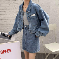 Fashion suit Spring 2021 S,M,L Denim skirt, denim coat 18-25 years old