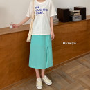 Fashion suit Summer 2021 Average size White T-shirt 618-1, green skirt 618 18-25 years old 71% (inclusive) - 80% (inclusive) cotton
