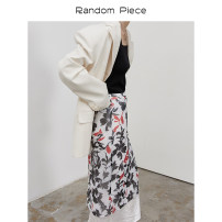 skirt Summer 2021 XS,S,M,L Plant printing will be delivered around April 29 Mid length dress Versatile MS04SK01 More than 95% other RandomPiece other