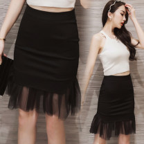 skirt Spring 2016 S,M,L,XL,2XL,3XL,4XL,5XL black Middle-skirt grace Natural waist skirt Type O 25-29 years old 51% (inclusive) - 70% (inclusive) knitting Viscose Pleating 401g / m ^ 2 (inclusive) - 500g / m ^ 2 (inclusive)