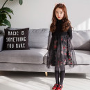 Dress White, black female The world of red 100cm,110cm,120cm,130cm,140cm,150cm,160cm,170cm Cotton 95% polyurethane elastic fiber (spandex) 5% spring and autumn princess Long sleeves Broken flowers Pure cotton (100% cotton content) Cake skirt Class A Chinese Mainland