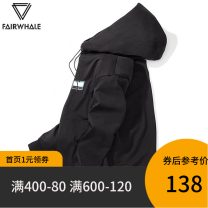 Sweater Fashion City Mark Fairwhale / mark Warfield black character Socket routine Hood autumn easy leisure time youth Youthful vigor routine Fleece  Cotton 100% cotton printing No iron treatment Autumn 2020 More than 95% Same model in shopping mall (sold online and offline) simple style