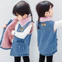 Vest female Dragonfly vest (plush) 100cm,110cm,120cm,130cm,140cm Other / other winter Plush There are models in the real shooting Single breasted Korean version cotton Cartoon animation Cotton 90% other 10% Silk floss Intradermal bile duct Chinese Mainland