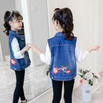 Vest female The recommended height is 100cm for Size 110, 110cm for Size 120, 120cm for Size 130, 130cm for size 140, 140cm for size 150 and 150cm for size 160 Other / other spring and autumn routine There are models in the real shooting Single breasted cotton other Chinese Mainland