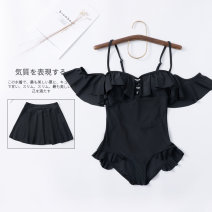 one piece  Demon lolita M,L,XL black Skirt one piece With chest pad without steel support Others, nylon female Sleeveless Casual swimsuit Solid color, character