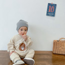 Jumpsuit / climbing suit / Khaki Other / other Class A currency one-piece garment cotton spring and autumn Long sleeves Long climb Korean version There are models in the real shooting nothing Socket 3 months, 6 months, 12 months, 18 months, 2 years old, 9 months