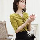 T-shirt White black yellow cherry red S M L XL 2XL Summer 2020 elbow sleeve Regular cotton 86% (inclusive) -95% (inclusive) Chen Xuan AL30336 Cotton 90.3% polyurethane elastic fiber (spandex) 9.7%