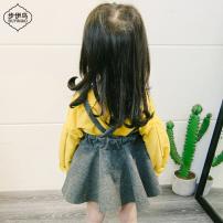 Dress female Troy 73cm 80cm 85cm 90cm 95cm 100cm 105cm Cotton 90% polyurethane elastic fiber (spandex) 10% spring and autumn princess Long sleeves Cartoon animation cotton Irregular