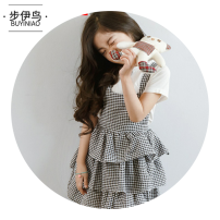 Dress Black and white female Troy 110cm 120cm 130cm 140cm 150cm 160cm Cotton 100% Korean version Suspender skirt 0309mytm44999_ 1045011219932_ eight hundred and forty-four Spring 2020 3 years old