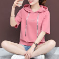 T-shirt M L XL XXL XXXL Summer of 2019 Short sleeve Hood easy Regular routine cotton 96% and above 18-24 years old letter Cotton 96% polyurethane elastic fiber (spandex) 4% Pure e-commerce (online only)