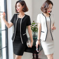 Professional dress suit S,M,L,XL,XXL,XXXL,4XL Spring of 2019 Short sleeve Jacket, other styles A-line skirt 25-35 years old Fashion beauty 91% (inclusive) - 95% (inclusive) spandex