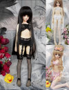 BJD doll zone suit 1/4 Over 14 years old goods in stock White, pink, black Big girl, 1 / 3, 1 / 4 DWS Underwear