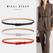 Belt / belt / chain Double skin leather female belt Versatile Single loop Middle aged youth Pin buckle Glossy surface Glossy surface 1.4cm alloy BILLI ZILLY 95cm 100cm 105cm Summer of 2019 no