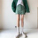 skirt Summer 2021 S,M,L Apricot, red, green, blue, black Short skirt commute High waist other Solid color MC0036 30% and below polyester fiber Korean version