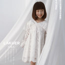 Dress White (in stock), white booking (5-15 days delivery) female Other / other 5,7,9,11,13,15 Other 100% spring and autumn leisure time Long sleeves other other other Class A 2 years old, 3 years old, 4 years old, 5 years old, 6 years old