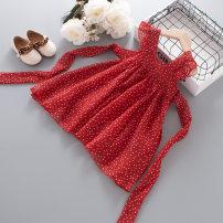 Dress claret female Other / other 100cm,110cm,120cm,130cm,80cm,90cm Other 100% summer princess Skirt / vest Dot Chiffon A-line skirt Class B 12 months, 18 months, 2 years old, 3 years old, 4 years old, 5 years old, 6 years old, 7 years old