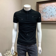 Polo shirt Musstosi Youth fashion thin Black and white M L XL 2XL 3XL Self cultivation Other leisure summer Short sleeve MT930085 tide routine youth Cotton 70% polyester 27% polyurethane elastic fiber (spandex) 3% other washing Spring 2021 Pure e-commerce (online only)