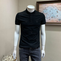 Polo shirt Musstosi Youth fashion thin Black dark grey M L XL 2XL 3XL Self cultivation Other leisure summer Short sleeve tide routine youth Spring 2021 Pure e-commerce (online only)