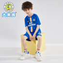 suit Big wasp / Bumblebee Sky blue red 120cm 130cm 140cm 150cm 160cm 165cm 170cm male summer motion Short sleeve + pants 2 pieces Thin money There are models in the real shooting Socket nothing letter cotton children Travel A790261680AB Class B Cotton 80% other 20% Summer 2021 Chinese Mainland