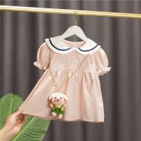 Dress Green, pink female Baobao elephant 5 # (recommended height 73cm-80cm), 7 # (recommended height 85CM), 9 # (recommended height 90cm), 11 # (recommended height 100cm), 13 # (recommended height 110cm) Cotton 95% polyurethane elastic fiber (spandex) 5% summer Korean version Short sleeve cotton