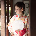 Dress Summer 2017 Design and color (two toe socks and handbags for free) S (for height 155 to 165), m (for height 165 to 175), baby is a one-piece kimono, waist cover is taken separately longuette Sweet Loose waist Decor Type H Mountain birds and colors solar system
