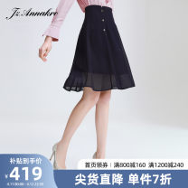 skirt Spring 2021 XS S M L XL 2XL 3XL 4XL Navy  Mid length dress commute Natural waist Type A 30-34 years old JWAC20111 30% and below Juzui / Jiuzi polyester fiber Simplicity Triacetate 73% polyester 27% Same model in shopping mall (sold online and offline)