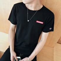 T-shirt Youth fashion Pink # 1975, white # 1975, black # 1975, black # embroidery, white # embroidery, gray # embroidery, pink # coke, coffee # coke, gray # coke, wz routine M,L,XL,2XL,3XL Others Short sleeve Crew neck Self cultivation Other leisure summer youth routine tide Alphanumeric printing